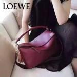 Loewe-050-05 專櫃時尚新款loewe puzzle系列原版小牛皮手提斜挎包
