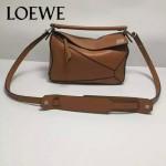 Loewe-051-02 專櫃時尚新款loewe puzzle mini系列原版小牛皮手提斜挎包