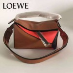 Loewe-051-010 專櫃時尚新款loewe puzzle mini系列原版小牛皮手提斜挎包