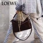 Loewe-050-014 專櫃時尚新款loewe puzzle系列原版小牛皮手提斜挎包