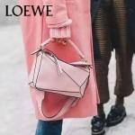 Loewe-051-05 專櫃時尚新款loewe puzzle mini系列原版小牛皮手提斜挎包