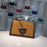Loewe-056 專櫃時尚新款羊麂皮拼Loewe Barcelona三角包