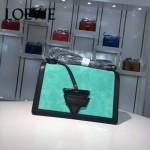 Loewe-056-01 專櫃時尚新款羊麂皮拼Loewe Barcelona三角包