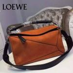 Loewe-059-04 專櫃時尚爆款puzzle large bag系列磨砂皮手提單肩包
