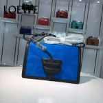 Loewe-056-02 專櫃時尚新款羊麂皮拼Loewe Barcelona三角包