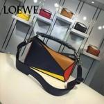 Loewe-058-01 專櫃時尚新款puzzle large bag系列小號手提單肩包