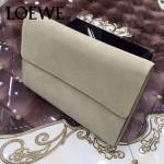 LOEWE 09-3 潮流實用單品土黃色原版小牛皮休閒手包可放ipad5