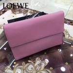 LOEWE 09-4 潮流實用單品粉色原版小牛皮休閒手包可放ipad5