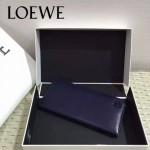 LOEWE 06-5 人氣男女通用寶藍色原版牛皮兩折西裝夾