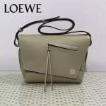 LOEWE 012-2 歐美百搭新款Anton白色原版牛皮單肩斜挎包信使包
