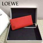 LOEWE 06-3 人氣男女通用橘紅色原版牛皮兩折西裝夾