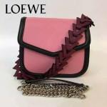 LOEWE 05-2 專櫃最新款Barcelona粉色原版小牛皮單肩斜挎包
