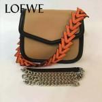 LOEWE 05-3 專櫃最新款Barcelona土黃色原版小牛皮單肩斜挎包