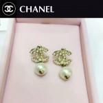 CHANEL飾品-04 潮流新款女士經典款雙C珍珠耳釘