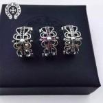 Chrome Hearts飾品-05 歐美朋克流行復古純銀十字架鑲鑽戒指
