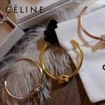 CELINE飾品-01 潮流文藝新款土豪金/銀色/玫瑰金個性打結黃銅手鐲