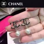 CHANEL飾品-040 潮流百搭新款經典款雙C滴油珍珠耳釘