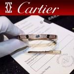 CARTIER飾品-05-2 官網同款玫瑰金鈦鋼滿天星鑲鑽黑釘真空電鍍18k螺絲手鐲