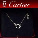 CARTIER飾品-07-2 潮流優雅新款925純銀18k土豪金單鉆項鏈鎖骨鏈