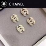 CHANEL飾品-016 名媛必備新款經典款雙C滿天星鑲鑽耳釘