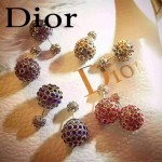 DIOR飾品-01 專櫃新款女神必備鑲鑽大小鏤空耳釘