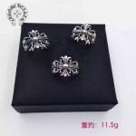 Chrome Hearts飾品-02 歐美機車男女款經典純銀復古十字架鑲鑽戒指