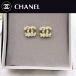 CHANEL飾品-024 潮流新款女士經典款雙C珍珠鑲鑽耳釘