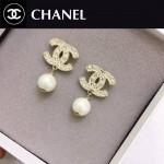 CHANEL飾品-028 潮流新款女士經典款雙C珍珠耳釘