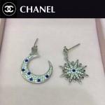 CHANEL飾品-07 歐美百搭新款經典款星星月亮鑲鑽耳釘
