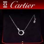CARTIER飾品-07 潮流優雅新款925純銀18k單鉆項鏈鎖骨鏈