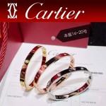 CARTIER飾品-03 專櫃經典款love系列18k金鑲鑽螺絲情侶款手鐲