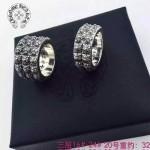 Chrome Hearts飾品-04 歐美潮流朋克純銀復古十字架雙層/三層戒指