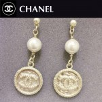 CHANEL飾品-03 時尚淑女風經典款雙C勛章珍珠耳環
