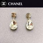 CHANEL飾品-015 時尚女神必備經典款雙C大水鉆耳釘
