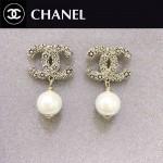 CHANEL飾品-034 人氣熱銷單品經典款雙C鑲鑽珍珠耳釘