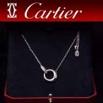 CARTIER飾品-07-3 潮流優雅新款925純銀18k玫瑰金單鉆項鏈鎖骨鏈