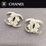 CHANEL飾品-010 優雅女神單品經典款雙C珍珠鑲鑽耳釘