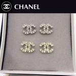 CHANEL飾品-017 人氣熱銷單品經典款雙C鑲鑽拼黑鑽耳釘