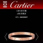 CARTIER飾品-04 專櫃經典款love系列18k金螺絲情侶款手鐲