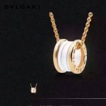 Bvlgari飾品-03 經典款男女款電鍍18K亞金材質白色陶瓷項鏈鎖骨鏈