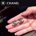 CHANEL飾品-041 潮流百搭新款經典款雙C滴油耳釘