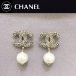 CHANEL飾品-06 潮流復古風經典款雙C珍珠耳釘