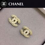 CHANEL飾品-012 歐美新款流行經典款雙C珍珠耳釘