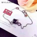 Bvlgari飾品-02 韓版時尚925純銀黑色陶瓷彈簧小紅人腳鏈