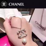 CHANEL飾品-043 名媛必備單品經典款雙C鑲鑽珍珠項鏈