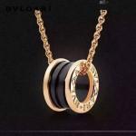 Bvlgari飾品-03-2 經典款男女款電鍍18K亞金材質黑色陶瓷項鏈鎖骨鏈