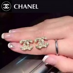 CHANEL飾品-039 潮流百搭新款經典款雙C珍珠耳釘