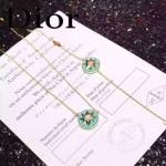 DIOR飾品-09-4 專櫃新款幸運之星925純銀高碳鉆電鍍18k藍色項鏈手鏈