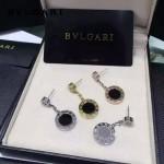 Bvlgari飾品-06 潮流女士新款經典款羅馬logo黑色陶瓷耳釘