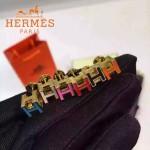 HERMES飾品-02 時尚經典款女士925純銀H字滴油耳釘